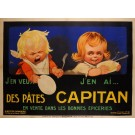 "Original Vintage French Poster ""Des Pates Capitan"" by Jac 1923"