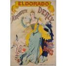 Original Vintage French Poster for Marguerite Derly appearing at ELDORADO