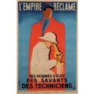 "Original Vintage French Propaganda Poster for ""L'Empire Reclame"" by Fix-Masseau"