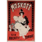 "Original French Alcohol OVERSIZE Poster ""Moskoff Vin Aperitif Tonique"" by Oge"