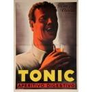 "Original Vintage Italian OVERSIZE Poster for ""Tonic"" Aperitif by Mario Gross"