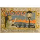 "Original Vintage Italian Alcohol OVERSIZE Poster for ""La Luciole"" by Yedra b ca. 1900"