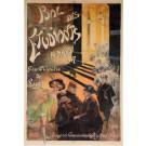 """Original Vintage French OVERSIZE Poster for """"Bal des Etudiants"""" Theater Lyon"""