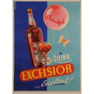 "Original Vintage French Alcohol Poster Advertising ""Excelsior"" by Kalischer"