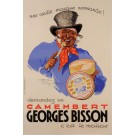 """Original Vintage French Poster for Camembert """"Georges Bisson"""" by Le Monnier 1937"""