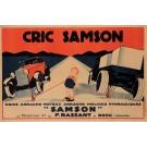 "Original Vintage French Poster Advertising ""Eric Samson"" Car Jack ca. 1920"