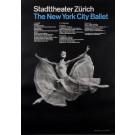 """Original Vintage Poster for """"New York City Ballet"""" by Muller Brockmann 1950's"""