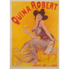 """Original Vintage French Poster for """"Quina Robert"""" by Gaston Lescarret ca. 1900"""