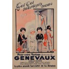 """Original Vintage French Poster Advertising """"Genevaux"""" Marriage Clothing by Jack"""