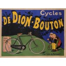 """Original Vintage French Poster for """"Cycles de Dion-Bouton"""" by Oge ca. 1900"""