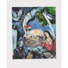 """Vintage French Lithograph """"Autour d'elle"""" by Marc Chagall 1945 Mourlot"""
