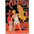 "Original Vintage French Children Poster for ""La Ceravene"" Stomach Remedy by Oge ca. 1900"