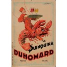 "Original Vintage French Alcohol Poster for ""Quinquina Duhomard"" by Dorfi 1920's"