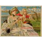 "Original Vintage Italian Alcohol Poster ""Mantovani"" Venezia Aperitif ca. 1920"