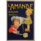 "Original Vintage French Poster for ""L'Amande Savon de Marseille"" ca. 1900"