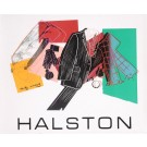 """Original Vintage French Fashion Poster for """"Halston"""" by Andy Warhol"""