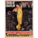 "Charlie Chaplin Movie Poster "" Les Temps Modernes"" reissue 1955"