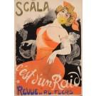 """Original Vintage French Poster """"C'est d'Un Raid - Scala"""" by Grun 1902"""