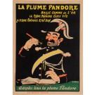 "Original Vintage French Poster ""La Plume Pandore"" by Grun 1905"