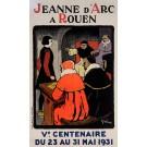 "Original Vintage French Poster ""Jean d'Arc a Rouen"" by Grun 1931"