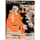 "Original Vintage French Poster ""Tribunal du Carillon"" by Grun 1895"