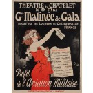 "Original Vintage French Poster ""Gde Matinee de Gala"" by Grun.  ca. 1910"