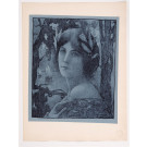 """Original French Lithograph ONLY L'Estampe Moderne N.21 """"Nuit Douce"""" by Guinier"""