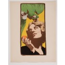 "Original French Litho ONLY L'Estampe Moderne N.19 ""La Femme au Perroquet"" Yank"