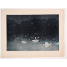 """Original French Lithograph ONLY L'Estampe Moderne N.18 """"Les Cygnes"""" by JOURDAIN"""