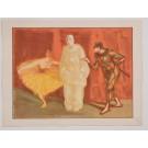 """Original French Litho ONLY L'Estampe Moderne N.16 """"Pantomime"""" by H. G. Ibels"""