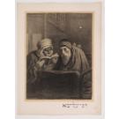"Original French Litho ONLY L'Estampe Moderne ""Rabbi Elischa l'Aveugle"" by Levy"