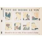 """Original Vintage French Poster """"Art de Boire le Vin"""" d'apres Martin ca. 1980"""