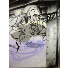 "Original Graffiti Painting ""The Many Faces of Mr. Hyde"" by Lee Quinones 225x173 cm"