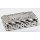 19th-century Silver Tobacco Snuff Box Engraving Signed Altvin, 13, 1846
