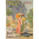 "Original French Vintage Poster ""Chemins de Fer PLM VICHY"" By Ploz ca. 1900"