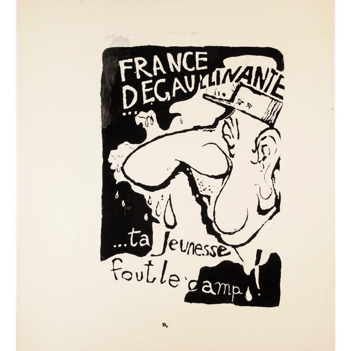 $650.00 - Original Vintage French 1968 Student Revolution Poster ...