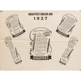 Vintage Engish Poster For Sheaffer's Fountaun Pen