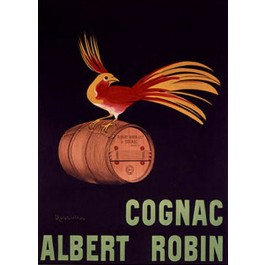 Original Vintage French Poster by Cappiello Leonetto for Cognac Albert Robin