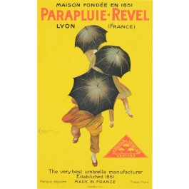 "Original Vintage French Poster ""PARAPLUIE-REVEL"" by  Cappiello - Small Format"