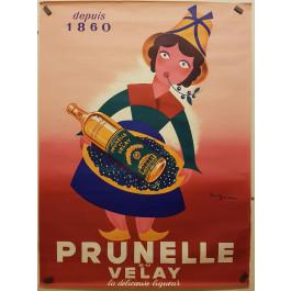 "Original Vintage French Poster ""Prunelle du Velay"" Liquor by Paullgerz"