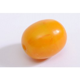 Large Natural Amber Bead (Tested) Length: 3 cm Weight 7.1 gr.