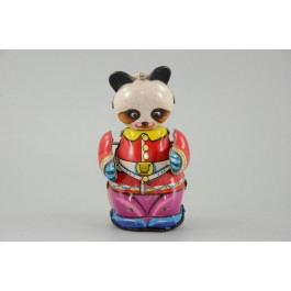 Vintage 1960´s China Wind-up Dancing Tin Toy Panda!