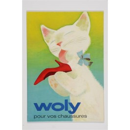 "Original Vintage French Poster ""WOLY pour vos chaussures"" ca. 1950"