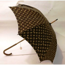 Original Vintage Louis Vuitton Umbrella Parasol Brown Monogram France