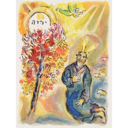 "Original Lithograph by MARC CHAGALL form ""The Story of the Exodus"" 1966"