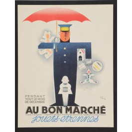 Vintage French Advertising Poster - AU BON MARCHE Jean Carlu 1930's
