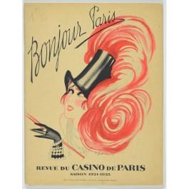 Vintage French Tourist Review Lithographs REVUE DU CASINO DE PARIS by Gesmar