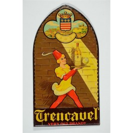 Original Vintage Metal Print Advertising - Trencavel  Brandy