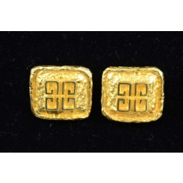 Gold-tone Clip-on Button Earrings by Givenchy Jewellry Design