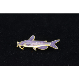 Vintage Gold plated and Enamel Cloisonné Catfish Shape Brooch Pin